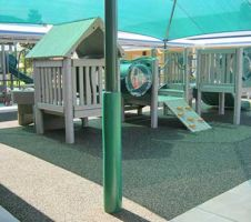 Protective-padding-for-playground-poles