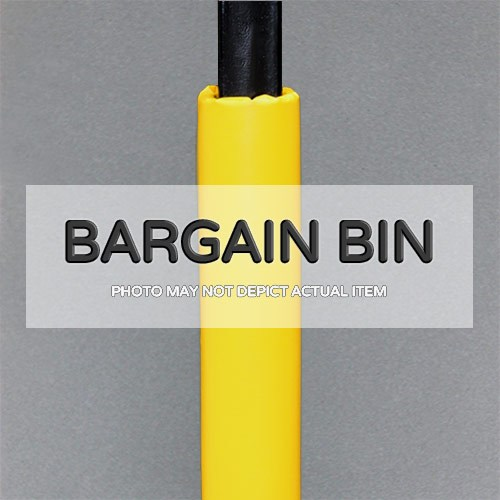 bargain bin yellow four inch round pole pad